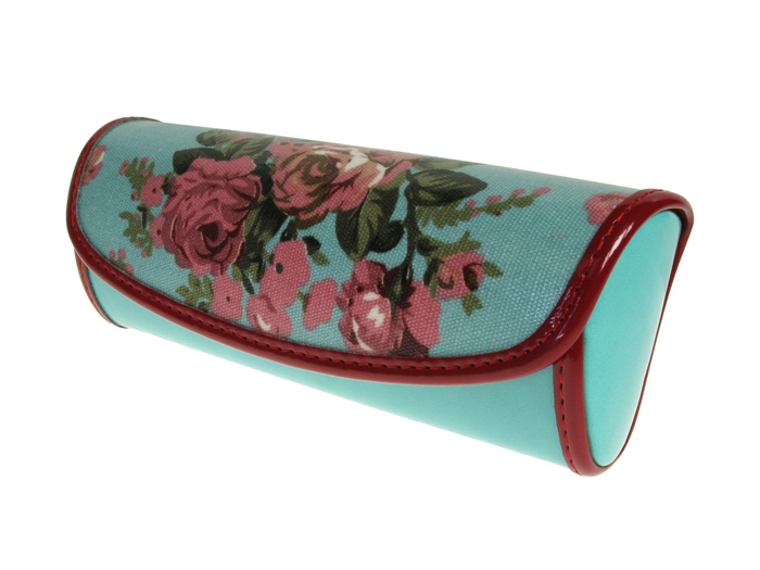 Glasses Case 'Vintage Rose' Blue