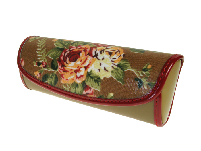 Glasses Case 'Vintage Rose' Brown