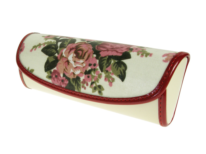 Glasses Case 'Vintage Rose' Cream