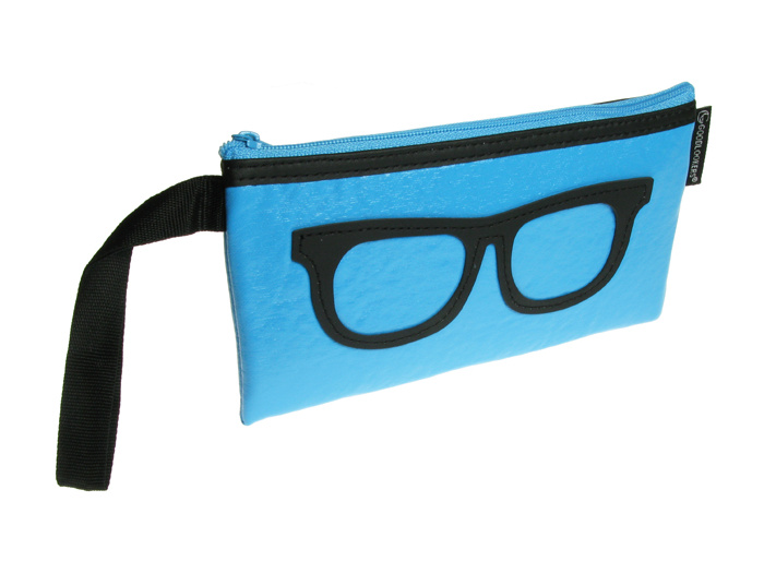 Glasses Case 'Geeky Retro' Blue