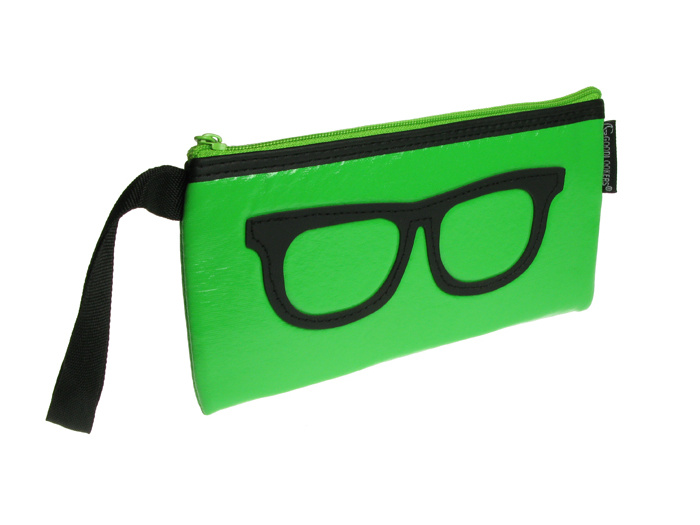 Glasses Case 'Geeky Retro' Green