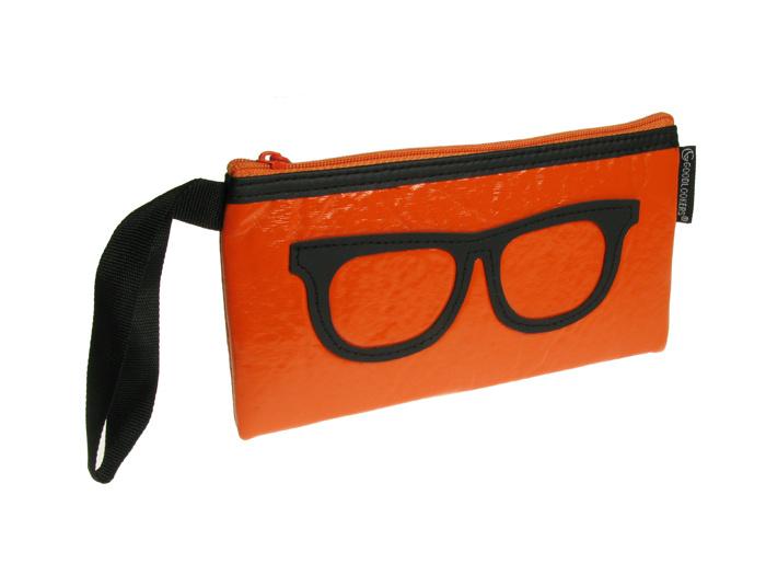 Glasses Case 'Geeky Retro' Orange