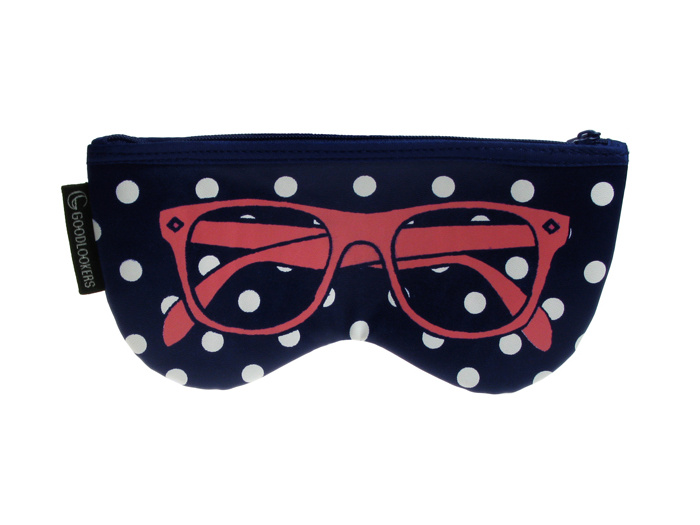 Glasses Case 'Shaped Retro' Blue