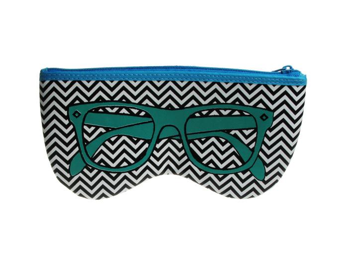 Glasses Case 'Shaped Retro' Green