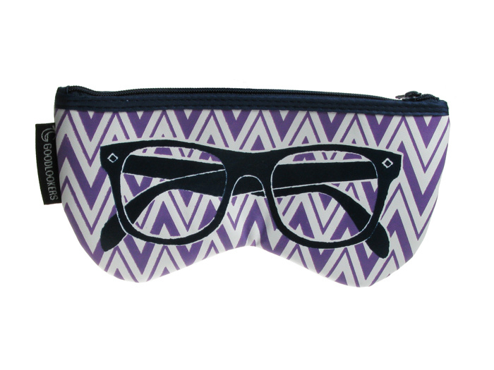 Glasses Case 'Shaped Retro' Purple
