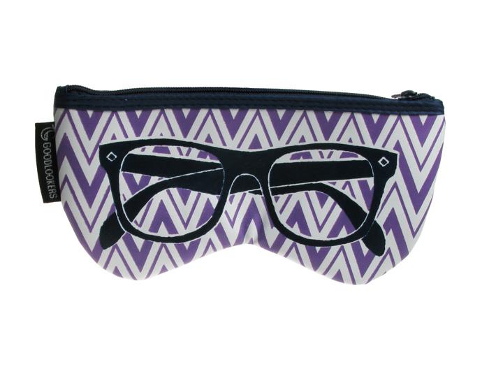 Glasses Case 'Shaped Retro' Purple