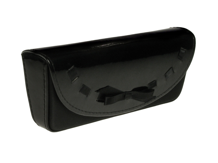 Glasses Case 'Bow Design' Black