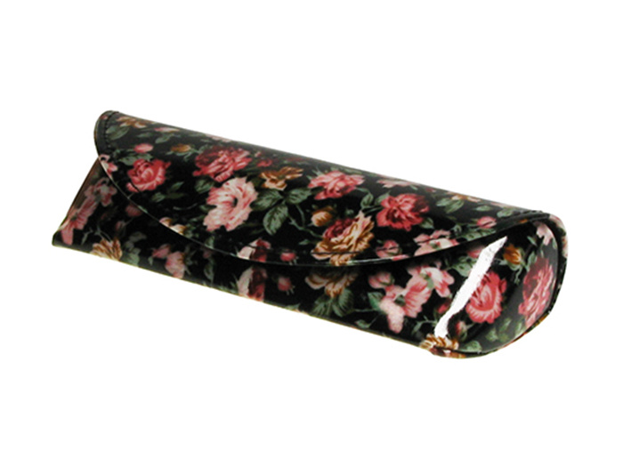 Glasses Case 'Antique Floral' Black