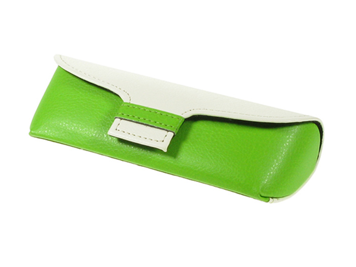 Glasses Case 'Two Tone' Green/White