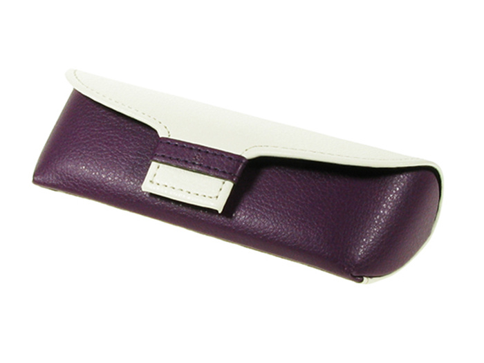 Glasses Case 'Two Tone' Purple/White