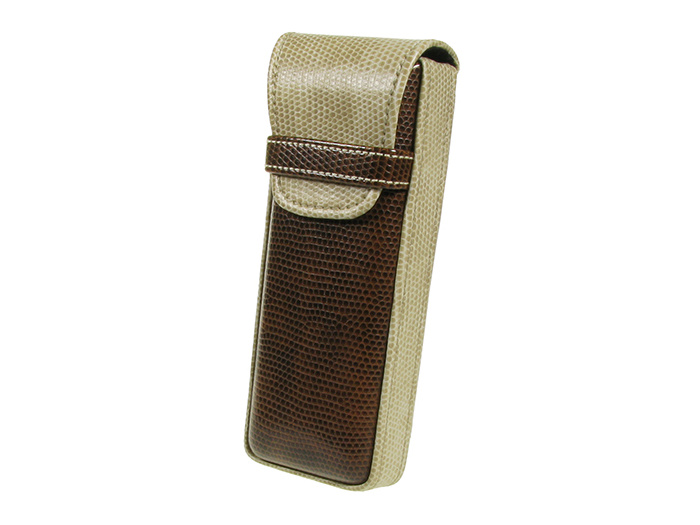 Glasses Case 'Gents Two-Tone' Brown/Cream