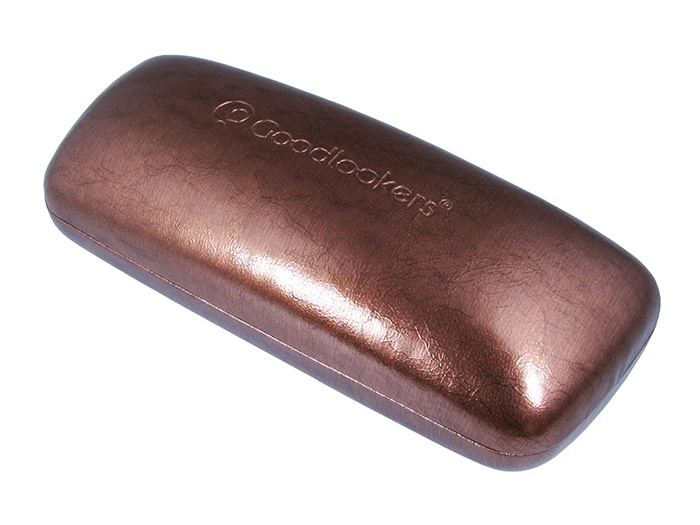 Glasses Case 'Aged Leather Look Shiny' Brown