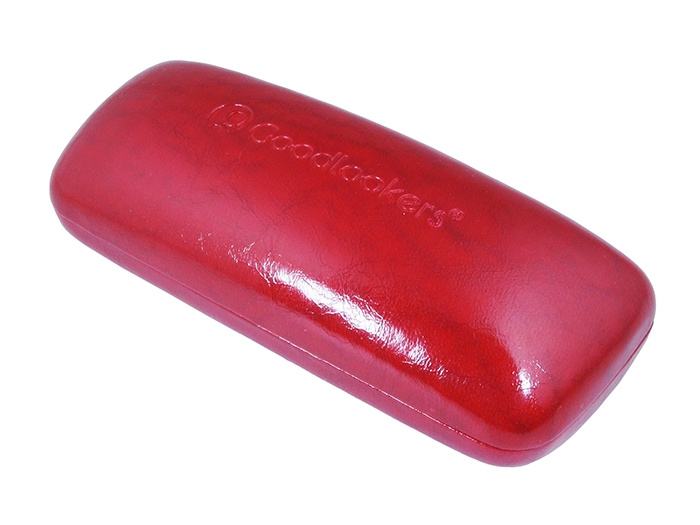 Glasses Case 'Aged Leather Look Shiny' Red