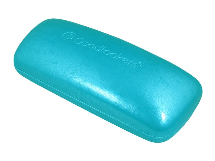 Glasses Case 'Aged Leather Look Shiny' Turquoise