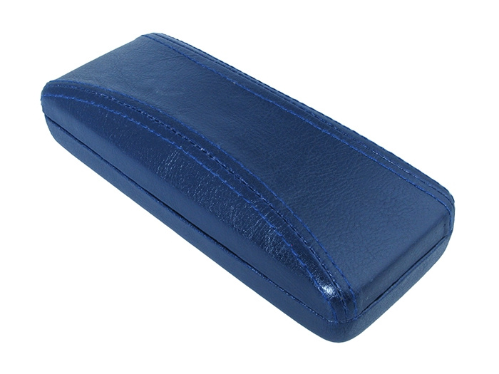 Glasses Case 'Aged Leather Look Stitched' Blue