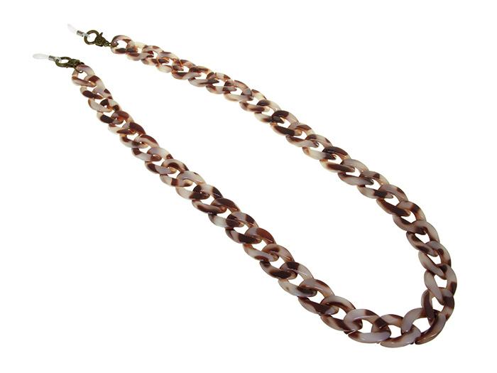 Glasses Chain 'Flat Chunky' Brown Marble