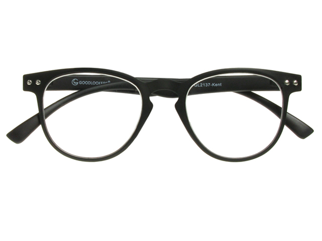 Goodlookers Reading Glasses - Kent Matt Black